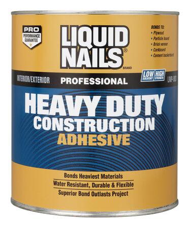 Liquid Nails Heavy Duty Construction Adhesive 1 qt.