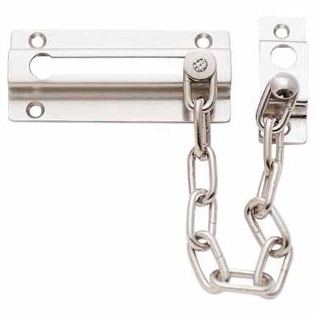 Ace 3.38 in. L Satin Nickel Chain Door Guard