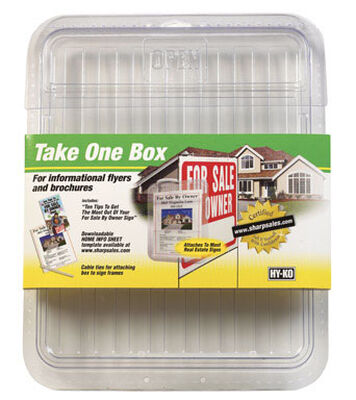 Hy-Ko 8-1/2 in. H x 11 in. W Plastic Take One Box