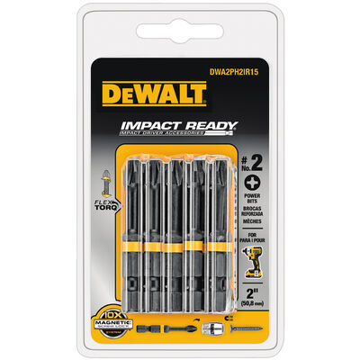 DeWalt Impact Ready #2 in. Phillips Screwdriver Bit 1/4 in. Dia. 15 pc.