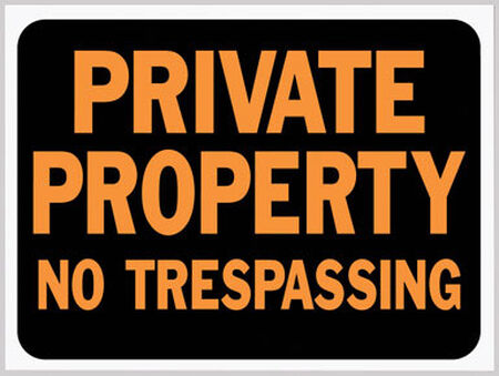 Hy-Ko English 9 in. H x 12 in. W Plastic Sign Private Property - No Trespassing