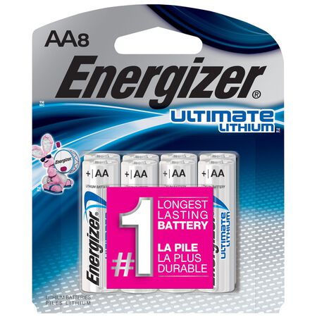 Energizer Ultimate Lithium AA Camera Battery L91BP-8