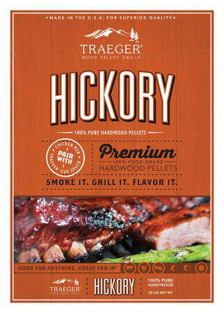 Traeger Hickory Wood Pellets 20 lb.