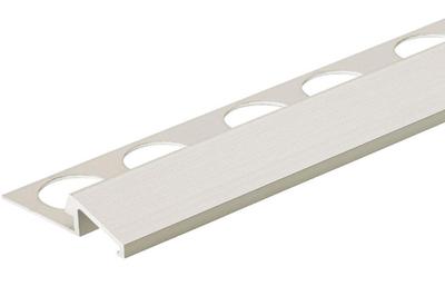 Satin Anodized 3/8 in. X 98.5 in. Aluminum U-Reducer Tile Edging Trim