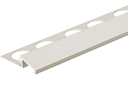 Satin Anodized 3/8 in. X 98.5 in. Aluminum U-Reducer Tile Edging Trim