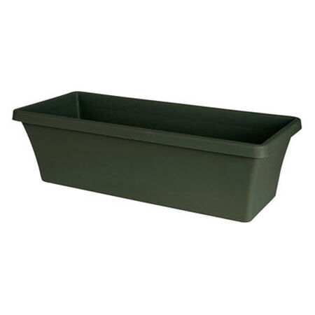 Bloem Terrabox Thyme Green Resin Planter 5.2 in. H x 18 in. W