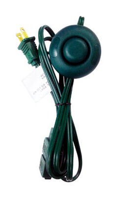 Home Plus Indoor Step on Switch Extension Cord 16/2 6 ft. L Green
