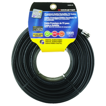Monster Just Hookit Up 100 ft. L Weatherproof Video Coaxial Cable