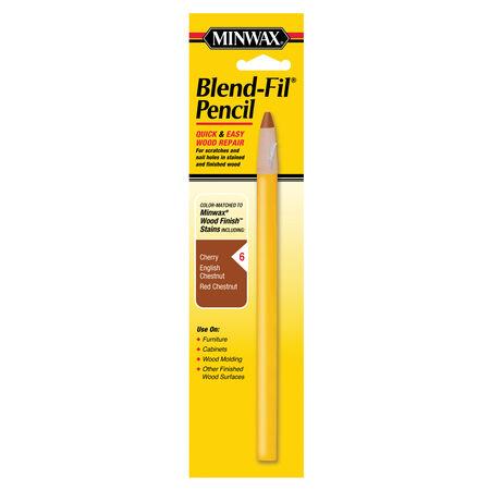 Minwax Blend-Fil No. 6 Cherry, Chestnut, English Chestnut, Red Walnut Wood Pencil 1 oz.