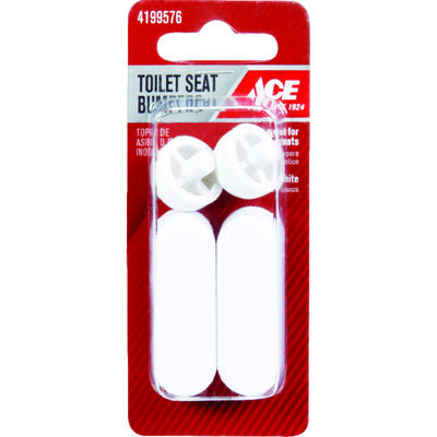 Ace Toilet Seat Bumper Set 5/8 in. H x 2 in. L Plastic