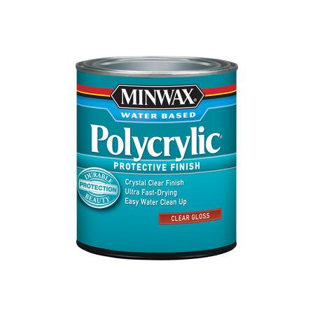 Minwax Gloss Clear Polycrylic 1 qt.