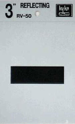 Hy-Ko Self-Adhesive Black 3 in. Reflective Vinyl Special Character Hyphen