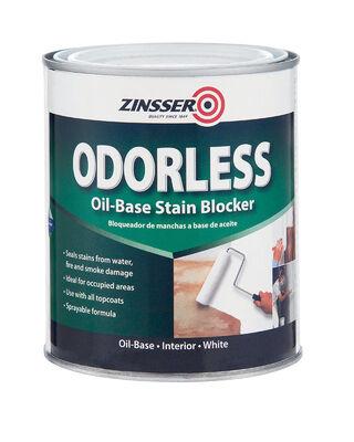 Zinsser Odorless Oil-Based Interior Primer 1 qt. White Flat