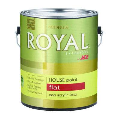 Ace Royal Acrylic Latex House Paint & Primer Flat 1 gal. High Hiding White