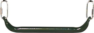 Commercial Grade Trapeze Bar, 1, 350 Lb, 36 Month, Steel Bar, Rubber Coating, Green