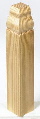 Alexandria Moulding Casing Trim Block Pine 6-1/2 in. H x 1-1/8 in. W x 1 in. D