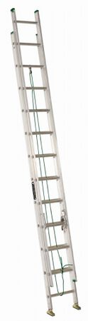 24 ft Louisville AE4224PG Aluminum Extension Ladder, Type II, 225 lb Load Capacity