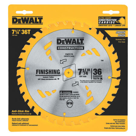"7-1/4"" 40T Precision Finishing Saw Blade"
