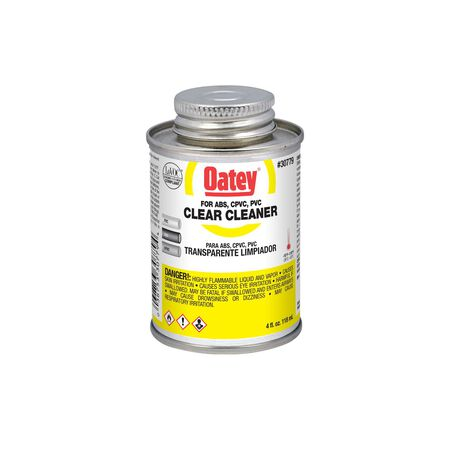 Oatey Clear PVC/CPVC/ABS Cleaner 4 oz.