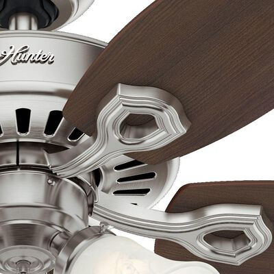 Hunter 42 in. Indoor Brushed Nickel Builder Small Room Ceiling Fan with Light Kit