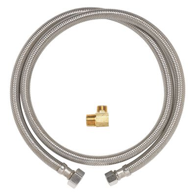 Ace 3/8 in. Compression x 3/8 in. Dia. MIP Stainless Steel 72 in. Supply Line