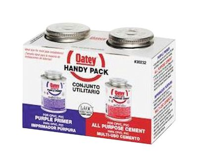 Oatey Handy Pack Purple / Clear Primer and Cement 2 pk