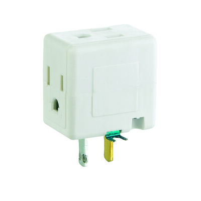 Ace Grounded Cube Adapter White 15 amps 125 volts 1 pk