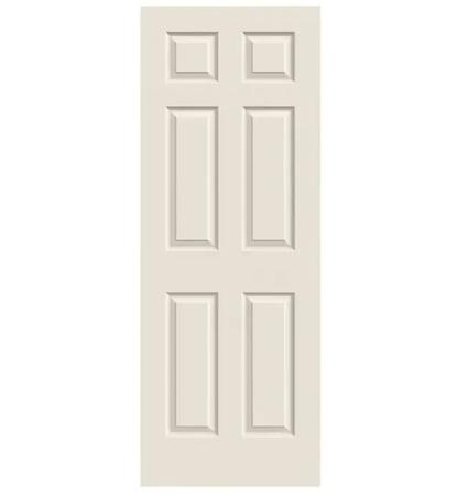 """Colonist 32"""" x 80"""" Primed 6-Panel Textured Hollow Core Slab Door"""
