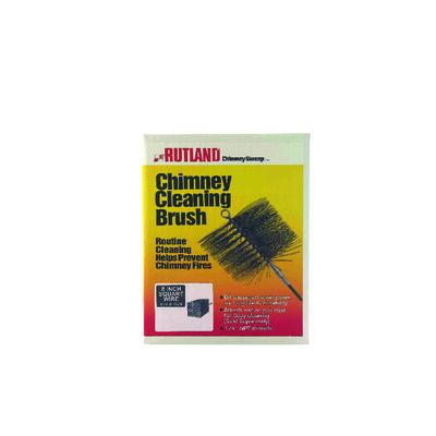 Rutland Black Chimney Brush Square 8 in. L