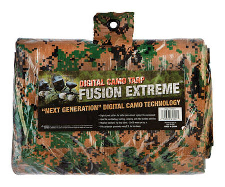 Fusion Extreme Digital Camouflage Medium Duty Tarp 8 ft. W x 10 ft. L