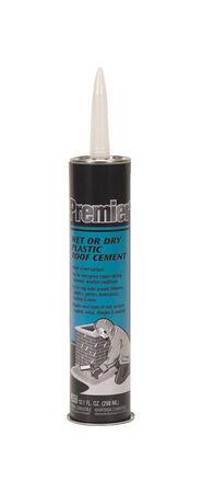 Premier Asphalt Wet/Dry Surface Roof Cement 10.1 oz. Black