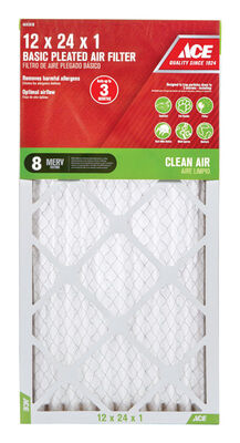 Ace 24 in. L x 12 in. W x 1 in. D Pleated Air Filter 8 MERV