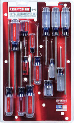 Craftsman 14 Piece Assorted Screwdriver Set Clear 1 pc.