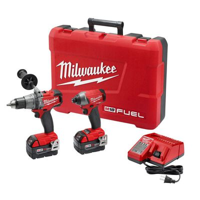M18 FUEL 18-Volt Lithium-Ion Brushless Cordless Hammer Drill/Impact Driver Combo Kit (2-Tool) w/(2) 5Ah Batteries, Case