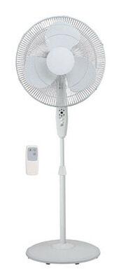 Pelonis Pedestal Fan 42 in. H 3 speed Oscillating AC 3 blade White