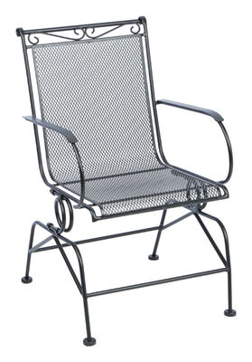 Living Accents Coil Spring Winston Chair Black