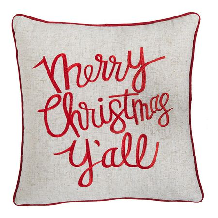 "15"" Merry Christmas Y'all Pillow"