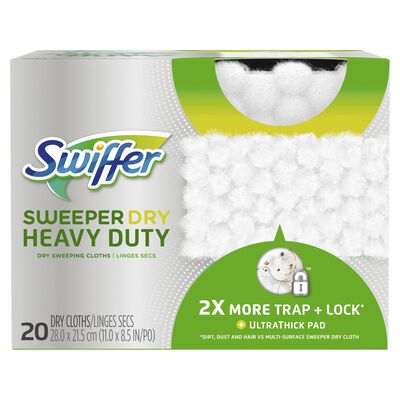Swiffer SweeperDry Heavy Duty 11 in. W x 8.5 in. L Cloth Refill Pad 20 count