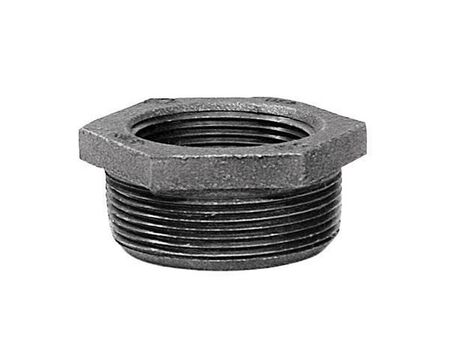 B & K 1-1/2 in. Dia. x 1 in. Dia. MPT To FPT Galvanized Malleable Iron Hex Bushing