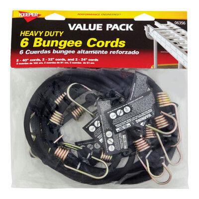 Keeper Corporation Keeper Bungee Cord Set 0 lb. 6 pk
