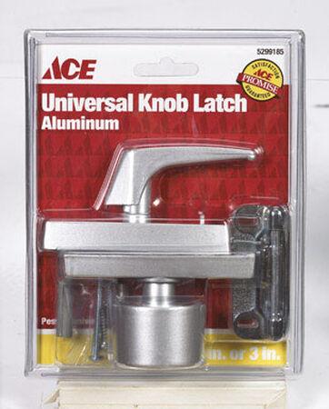 Ace Interior/Exterior Aluminum Universal Knob Latch