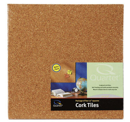Quartet 12 in. L x 12 in. W Cork Wall Tile Cork 4