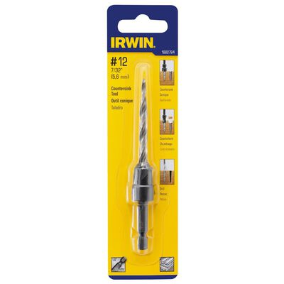 Irwin High Speed Steel 7/32 in. Dia. Countersink For Wood