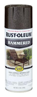 Rust-Oleum Stops Rust Dark Bronze Gloss Hammered Spray 12 oz.