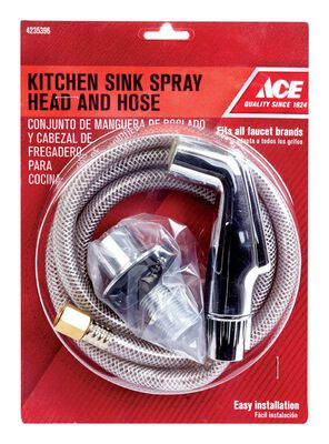 Ace Chrome Chrome Kitchen Faucet Side Spray and Hose Assembly