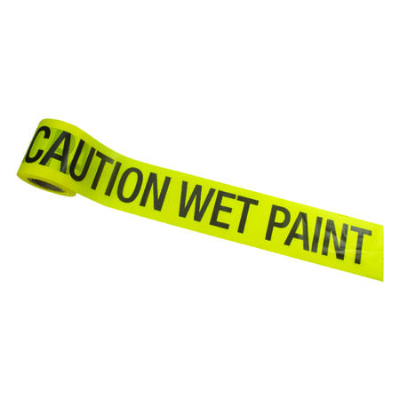 C.H. Hanson 200 ft. L x 3 in. W Barricade Tape Caution Wet Paint
