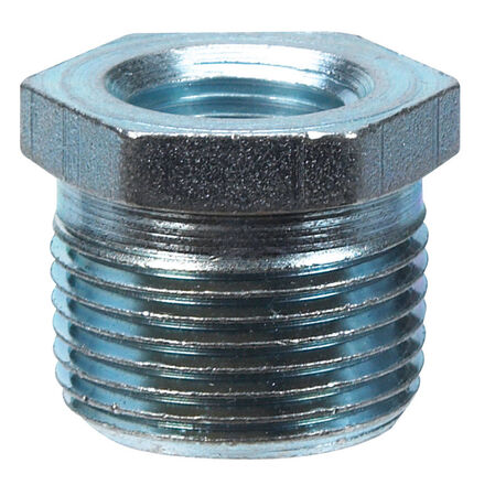 B & K 1/2 in. Dia. x 1/4 in. Dia. MPT To FPT Galvanized Malleable Iron Hex Bushing