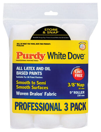 Purdy Woven Paint Roller Cover 3/8 in. L x 9 in. W 3 pk