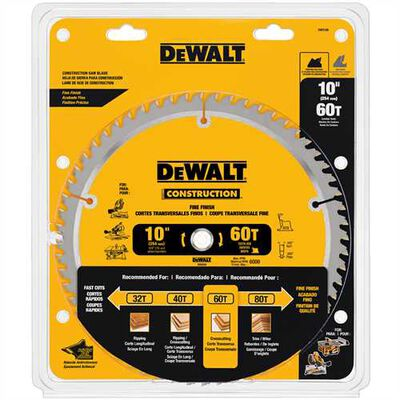 "Series 20 10"" 60T Fine Finish Saw Blade"