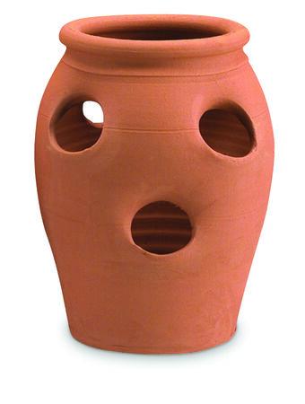 New England Pottery 1 Gallon/4-Pocket Strawberry Jar Terra Cotta 1ea/5.75in